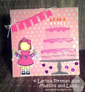 Larissa Pittman for Muffins and Lace MFT Birdie Brown Birthday Card