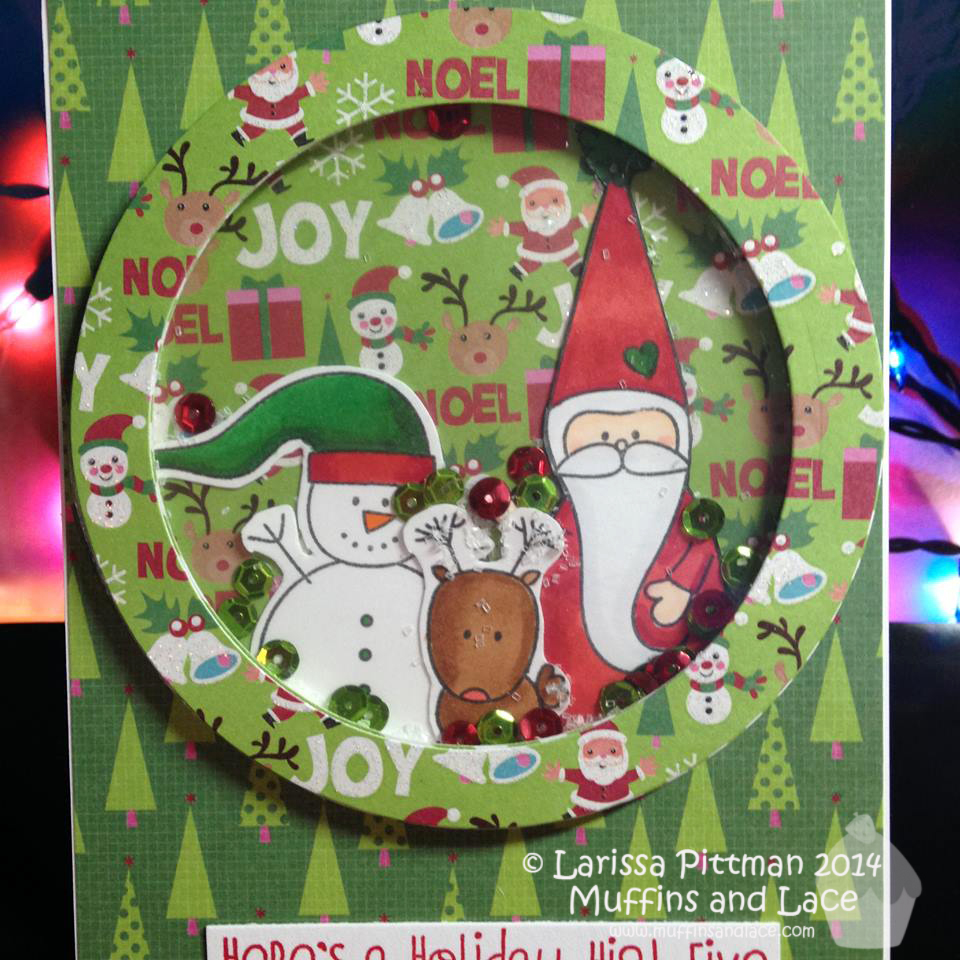 Designed by Larissa Pittman of Muffins and Lace using MFT Christmas Cuteness closeup 2