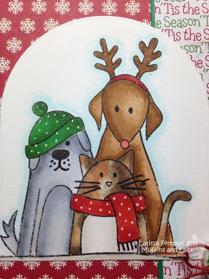 designed by larissa pittman of muffins and lace using simon says stamp furry christmas friends pets - Christmas Furry