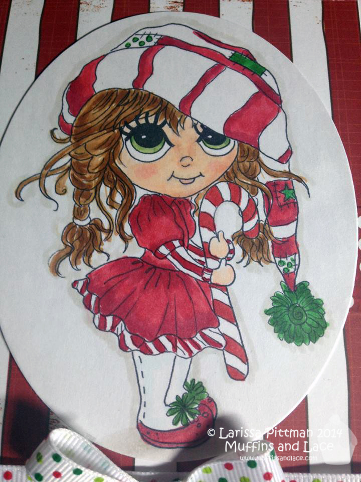 Designed by Larissa Pittman of Muffins and Lace using Lacy Sunshine's MaryBoo's CandyCane closeup