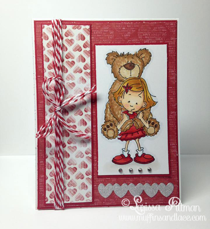 Designed by Larissa Pittman of Muffins and Lace using a Kraftin Kimmie Stamp from Carnival Fun set