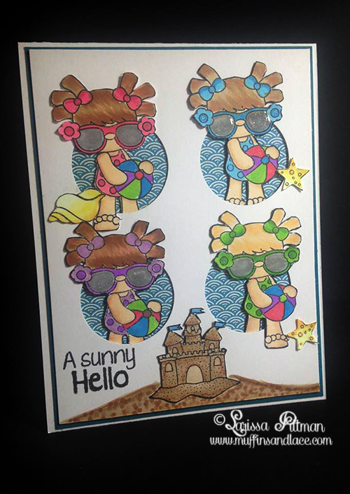 Designed by Larissa Pittman of Muffins and Lace as a Guest Designer for Craftin Desert Diva Beach Bum Stamp Set
