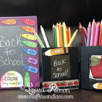 Designed by Larissa Pittman of Muffins and Lace for Deflecto Products Back to School theme