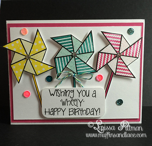 Designed by Larissa Pittman using The Stamps of Life Pinwheels2stamp inside