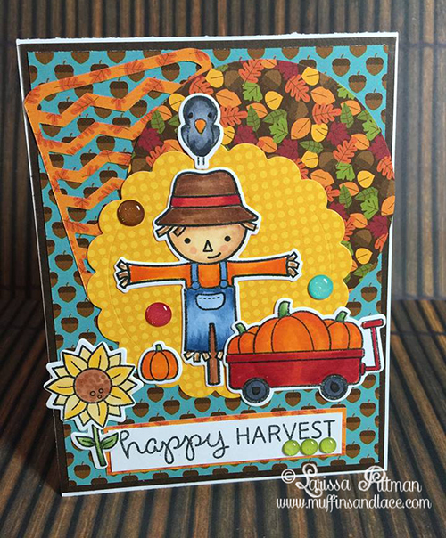 Designed by Larissa Pittman using Lawn Fawn Happy Harvest Stamp Set