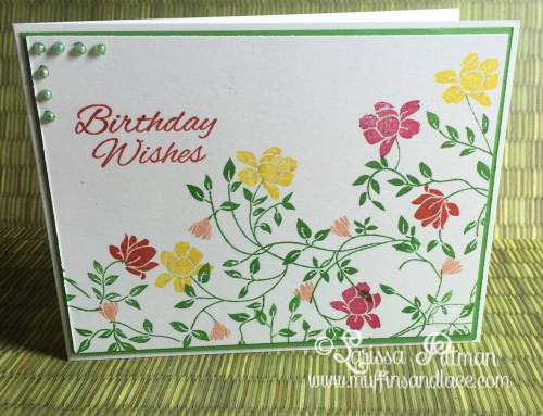 Designed by Larissa Pittman using Gina K Designs Wild Blossoms Stamp Set