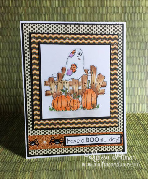 Larissa Pittman of Muffins and Lace creates have a bootiful day card